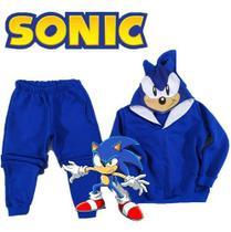 Conjunto De Moletom Infantil Pokemon Sonic Forrada De Luxo - Anjo Da Mamãe