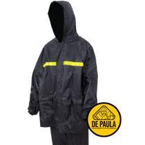 Conjunto de motoqueiro com calca e  jaqueta e capuz - capa de chuva - Classe