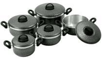 Conjunto de Panelas Aluminio Craqueada 5 Peças Grenada -