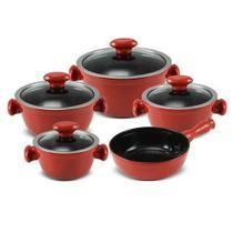 Conjunto de Panelas Chef em Cerâmica com 05 Peças Pomodoro - Ceraflame -