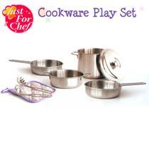 Conjunto de Panelas e Acessórios - Cookware Play Set 8pç - Just For Baker - New Toys
