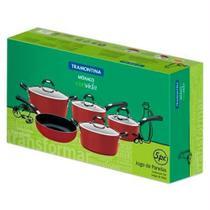 Conjunto de Panelas Mônaco Vermelho 5 Peças 20899750 - Tramontina -