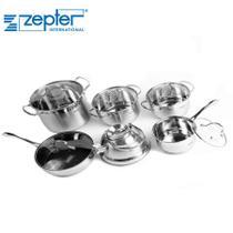 Conjunto de Panelas Zepter 6 Peças Indução com Chaleira e Frigideira com Tampa - Ipe Cozinhas