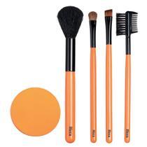 Conjunto de Pinceis de Maquiagem e Esponja Ricca -