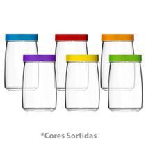 Conjunto de Pote Colorex Mandacaru 1,2 Litros Ref. 9632 - 6 Peças (Cores Sortidas) - Nadir -