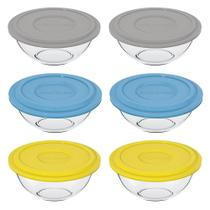 Conjunto de Pote de vidro Plus 3L com Tampa Plástica - 6 Peças - Marinex - Duralex/Marinex