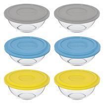 Conjunto de Pote de vidro Plus 3L com Tampa Plástica - 6 Peças - Marinex -