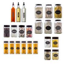 Conjunto de Potes Completo 23 peças  Black  Vetrolar -