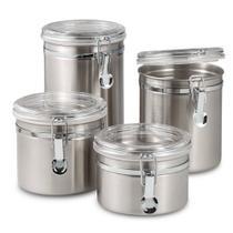 Conjunto De Potes De Inox Hermético 4 Peças - Wellmix