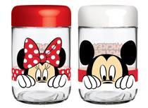 Conjunto de Potes de Vidro 598 ml (2 unidades) Disney Amigos Nadir - NAF 378 -