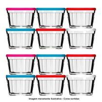 Conjunto de Potes de vidro Americano 4110 350ml Cores Sortidas 12 Unidades - Nadir -