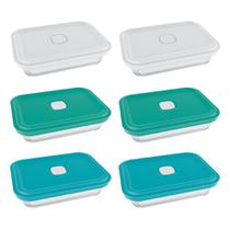 Conjunto de Potes de Vidro Marinex Facilita Vap Cores Sortidas 750ml - 6 Peças -