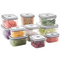 Conjunto de Potes Herméticos de Plástico - 10 Unidades - Electrolux