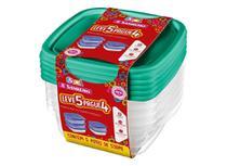 Conjunto de Potes Plástico com Tampa 530 ml (Leve 5 e Pague 4) SanRemo - SAN 048 -