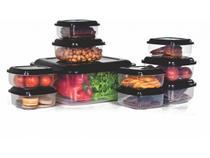 Conjunto de Potes Plástico Prime 10 Peças Quadrado-Ercaplast -