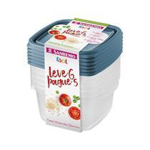 Conjunto de Potes Plásticos Sanremo Leve 6 Pague 5 de 800ml -