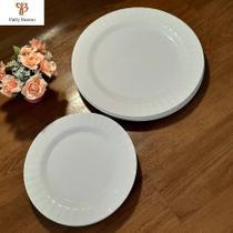 Conjunto de pratos em melamina raso e sobremesa color (12 peças) - ART HOUSE