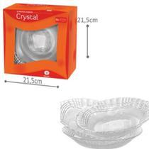 Conjunto de Pratos Fundo C/6 Crystal  - Wheaton -