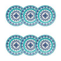 Conjunto de Pratos Fundos 22 cm 6 Peças Lola Azul - Oxford - Oxford es -