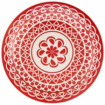 Conjunto de Pratos Rasos Com 6 Peças 26cm Floreal Renda - Oxford -