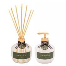 Conjunto De Sabonete Líquido e Difusor Luxo Cedro E Magnolia 350 Ml Mels Brushes -