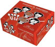 Conjunto de Sobremesa 12 peças com 6 taças 6 colheres Mega Inox -