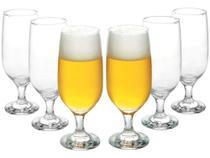 Conjunto de Taças de Vidro para Cerveja 6 Peças - 300ml Nadir Floripa 7732 -