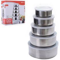 Conjunto De Tigelas Bowls Aço Inox 5 Peças - Wellmix