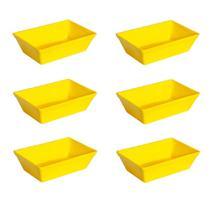 Conjunto de Travessa Stillo Vemplast P 2 Litros Linha Tropical em Polipropileno com 6 peças -