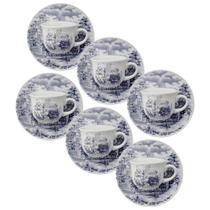 Conjunto de Xícaras para Café 75 ml com Pires Biona 12 Peças - Oxford - Oxford sc