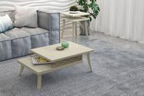 Conjunto Dior Mesa de Centro e Lateral Off White - Patrimar Móveis -
