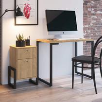 Conjunto Escrivaninha Porto e Criado Mudo Wolli Siena Móveis Natural -