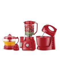 Conjunto Especial Mondial Cozinha Completa Red 3 KT-105R 127V -