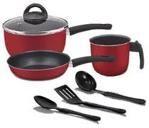 Conjunto Essencial 6 peças Vermelho com utensílios - Marpal