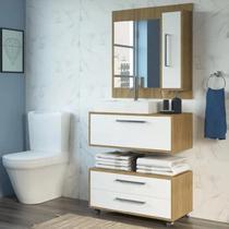 Conjunto Gabinete de Banheiro Completo Grécia Balcão painel e cuba - Outlet Das Fábricas