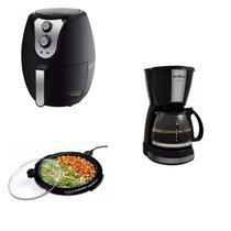 Conjunto Grill, Cafeteira e Fritadeira 220V Britânia Preto -