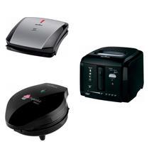 Conjunto Grill, Máquina de Cupcake e Fritadeira 127V Britânia Preto -