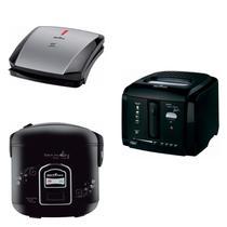 Conjunto Grill, Panela Elétrica e Fritadeira 127V Britânia Preto -