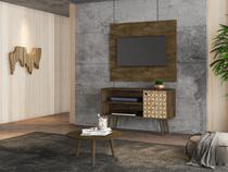 Conjunto Home para TV Gouveia e Mesa de Centro Madeira 3D - Bechara