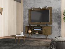 Conjunto Home para TV Mesen com Mesa de Centro Madeira Rústica - Bechara