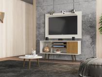 Conjunto Home para TV Mesen com Mesa de Centro Off White Cinamomo - Bechara