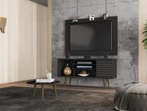 Conjunto Home para TV Mesen com Mesa de Centro Preto Fosco - Bechara