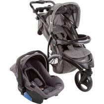 Conjunto Infanti: Carrinho de Bebê Travel System Off Road + Bebê Conforto Terni - Grey Cold -