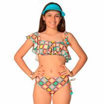 Conjunto Infantil Ana Azulejo - Stw Moda
