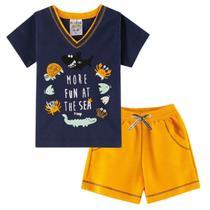 Conjunto Infantil Bebê Menino Ocean More Fun Amarelo - Fantoni
