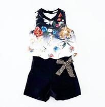 Conjunto infantil black summer petit cherie 80006 -