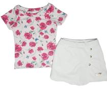 Conjunto Infantil Blusa e Short-Saia Menina - Dna