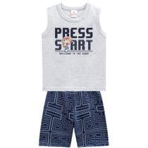 Conjunto Infantil Brandili Game Press Start Masculino -