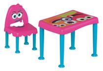 Conjunto Infantil De 1 Mesa E 1 Cadeira Plásticas Montaveis Monster Rosa E Azul Tramontina 92485/670 - Tramontina delta
