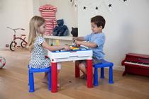 Conjunto Infantil de Mesa e Cadeiras Table ConstruKids Keter -